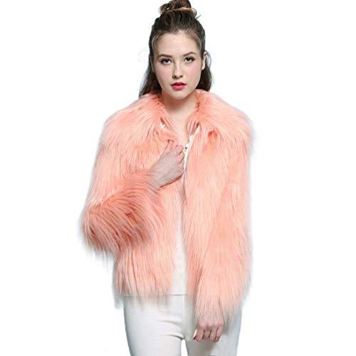 Rose D'hiver 2 couleur Taille Femmes Pour Vêtements Dessus Parka En Petit de Zhrui Fourrure Synthétique ZxnBPwTY