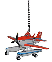 Disney Planes Fire and Rescue vehicle CEILING FAN PULL light chain extender (Pontoon Dusty the Crop duster Airplane)
