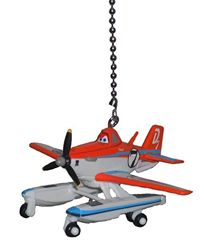 Airplane Ceiling Fan Pull (Disney Planes Fire and Rescue vehicle CEILING FAN PULL light chain extender (Pontoon Dusty the Crop duster)