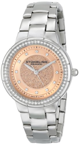 Stuhrling Original Women's 851.02 Vogue Sparkle Analog Display Swiss Quartz Silver Watch