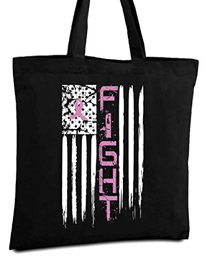 Awkward Styles Fight Breast Cancer Tote Bag Breast Cancer Awareness Cloth Bag Black One Size (Breast Cancer Awareness Canvas Tote)