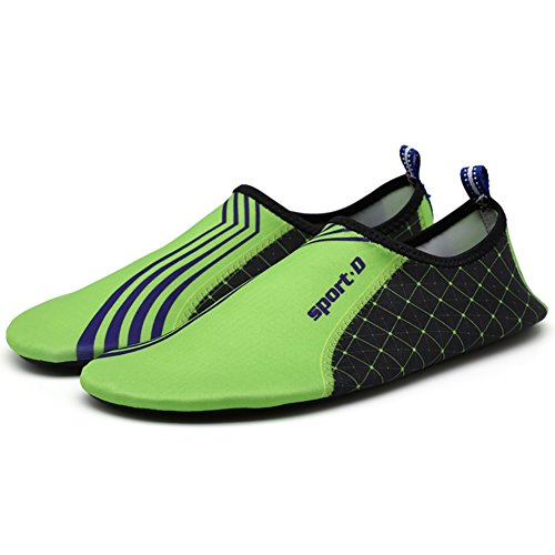 Womens Dry and Mens Water Swim Shoes B for Green Zhengpin Slip Non Quick wHI8xUq