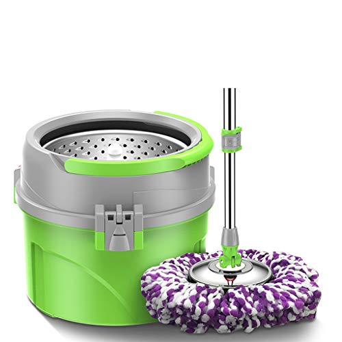 Wet Mops Full-acting Microfiber Rotating Mop and Bucket Wet Mops (Color : C)