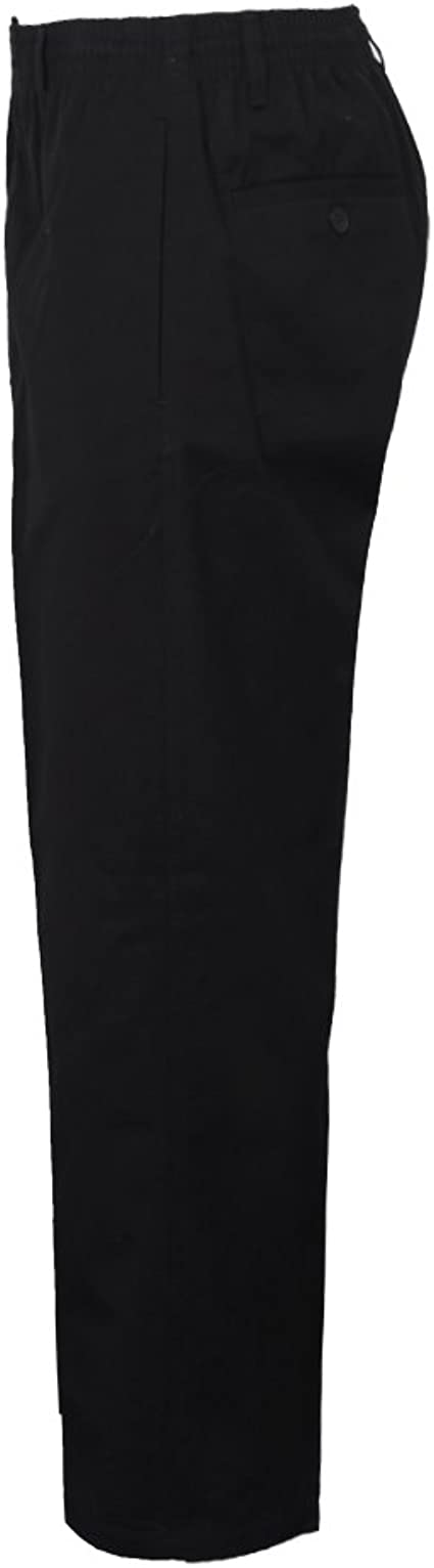 MENS ELASTICATED WAIST RUGBY TROUSERS PANTS W32-W48 L 27 29 31 4 COLOURS