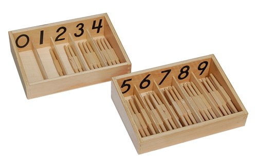 Spindle Case (Montessori Spindle Box With 45)