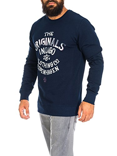 Jack & Jones Herren Pullover JorType Sweat-Shirt Rundhals navy