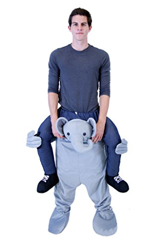 Costume Agent Men's Piggyback ELEPHANT Ride-On Costume, Elephant, Adult Standard