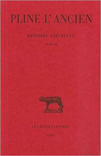 Amazon Com Histoire Naturelle Livre Iii Collection Des