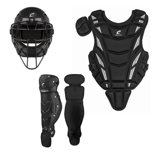 Champro Triple-Play Youth Catcher's Set, Black, 6 1/2''-7''/13.5'' by CHAMPRO
