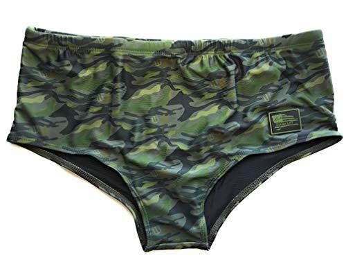 (Sunga Life Loudmouth Patriot Lycra Swim Briefs   Men's Brazilian Swimwear (XL, Camo))