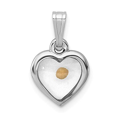 925 Sterling Silver Small Heart Mustard Seed Pendant Charm Necklace Religious Faith Hope Charity Love Fine Jewelry Gifts For Women For Her