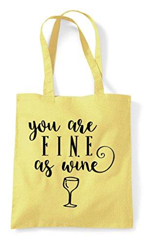 Lemon Tote Wine You Fine Bag Are Shopper As Rqfzq