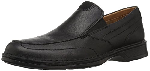 Clarks Slip Leather - Clarks Men's Northam Step Shoe, black oily leather, 100 W US
