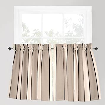Park B Smith Cafe Stripe Curtain Naturals