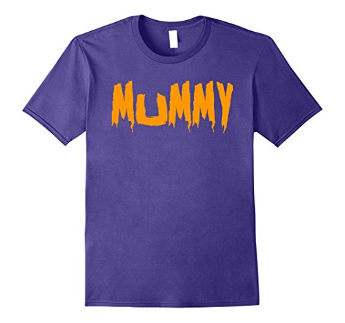 Costumes For Husband And Wife (Mens Mom's Mummy T-Shirt Funny Mother's Halloween Costume Party Small Purple)
