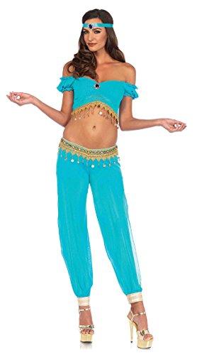 Jasmine Costumes For Adults (Leg Avenue Women's Costume, Turquoise,)
