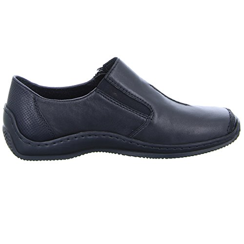 Rieker Womens Lugano Zip-Up Casual Shoe L1780-00 Schwarz/Sc 228x4GAk7S