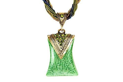 iVan New fashionable Restoring Ancient Ways Bohemia Peacock Cat-Eyes Stone Pendant Women Nacklace (Homemade Mummy Costume Child)
