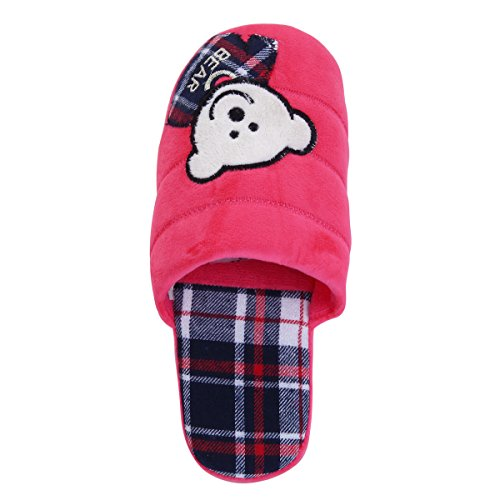amp; Hot Pink Bear Slippers House Fleece TrendsBlue Different Fabric Cozy Baby Colors Tqfxg1R