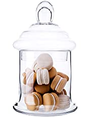 Diamond Star Apothecary Glass Candy Jar with Lids, Candy Buffet Display Elegant Storage Jars, Decorative Wedding Candy Canisters