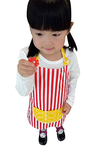 CRB Toddler Little Girls Boys Baking Bakware Cute Chef Baking Top Apron with Pocket (3T to 4T, Style #4)