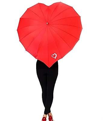Heart Shaped Umbrella (Red)