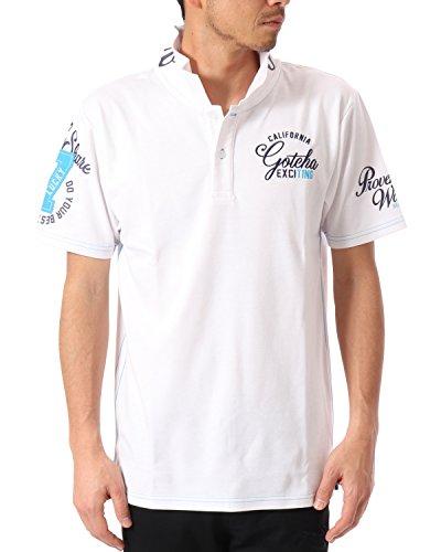 (ガッチャ ゴルフ) GOTCHA GOLF ポロシャツ BASIC スムース ポロ 7 [吸水速乾] 182GG1200 ブルー XXLサイズ