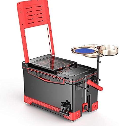 釣りボックス 新しいアウトドア釣りボックスチェア多機能新鮮な釣りバケツのフル装備釣りボックスレッドをキープ タックルボックス (Color : Red, Size : One size)