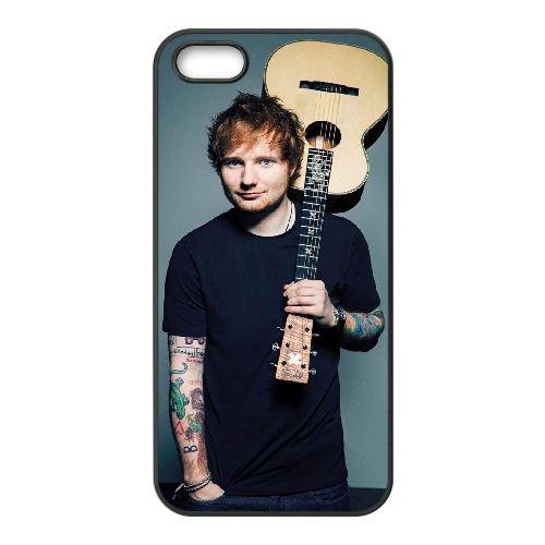 Ed Sheeran 005 coque iPhone 5 5S Housse téléphone Noir de couverture de cas coque EOKXLLNCD17444