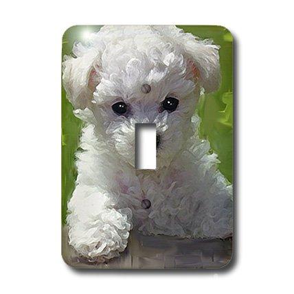 3d Rose 3dRose LLC lsp_5323_1 Bichon Frise Puppy, Single ...