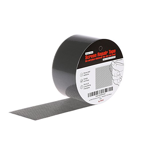 Gray Fiberglass Screen - by.RHO Screen Repair Tape. Gray, XL(15FT). 3-Layer Strong Adhesive & Waterproof (Silver-Gray)