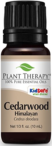 Plant Therapy Cedarwood Himalayan Essential Oil. 100% Pure, Undiluted, Therapeutic Grade. 10 ml (1/3 oz).