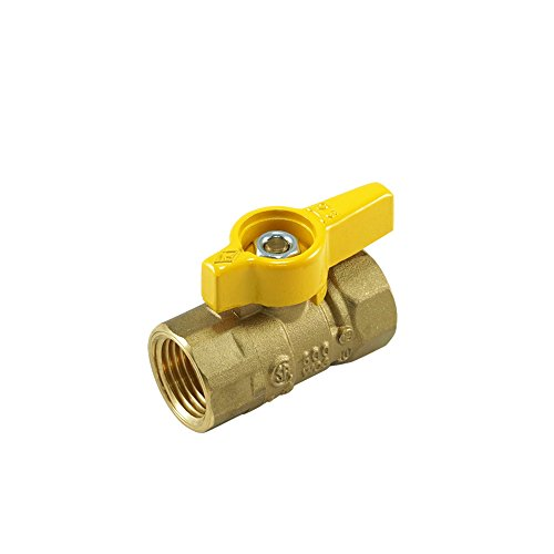 Ground Joints Lever Handle (Nigo 240DEW Series Forged Brass Ball Valve, CSA Certified, Aluminum Handle, NPT Female, Full Port 600WOG (1/2
