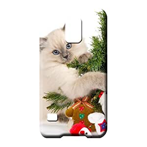 samsung galaxy s5 Dirtshock Snap New Arrival phone cover case cat hugs christmas tree