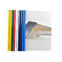 10PCS File Folders Document Display Slide Binder Slide Report Cover Clear A4 Clip Bar