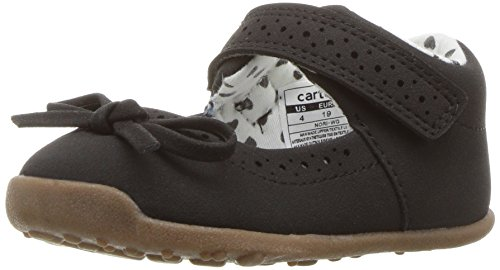 (Carter's Every Step Girls' Stage 3 Walk, Nori-WG Mary Jane Flat Flat, Black, 5.0 M US (12-18 Months))