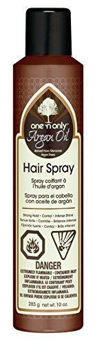 One N Only Argan Oil Hairspray 10 Ounce Strong Hold Intense Shine 295ml 2 Pack