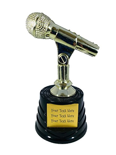 Trophy Crunch - Custom Car Show, Pinewood Derby, Racing Trophies - Microphone Show Host - Stock Plate -