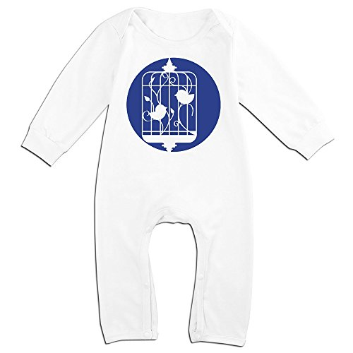 Silhouette Infant Bodysuit (OLGB Babys Birds In A Cage Silhouette Long Sleeve Climbing Clothes 24 Months)