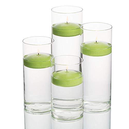 - Set of 48 Eastland Cylinder Vases and 48 Green Richland Floating Candles 3