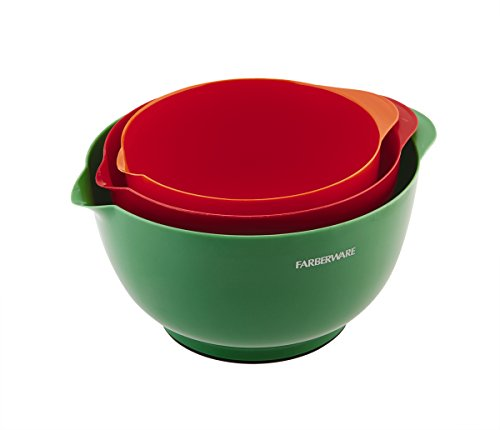 Price comparison product image Farberware Classic Plastic Mixing Bowls, Assorted, Set of 3