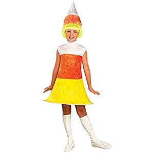 Girls Candy Corn Costume - Child Small