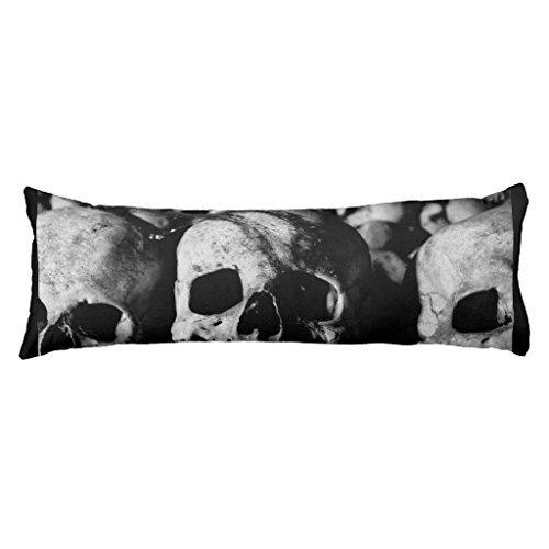 Human Skull Collection Body Pillowcase