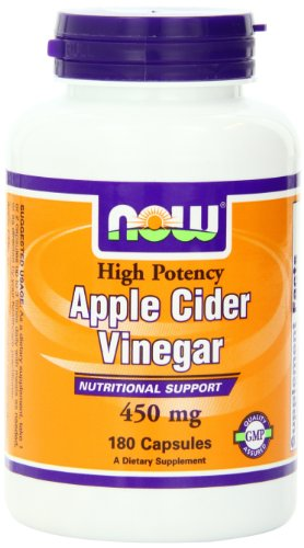NOW Apple Cider Vinegar 450 mg,180 Capsules
