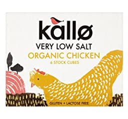 Kallo Organic Low Salt Chicken Stock Cube 51G (Pack Of 6)