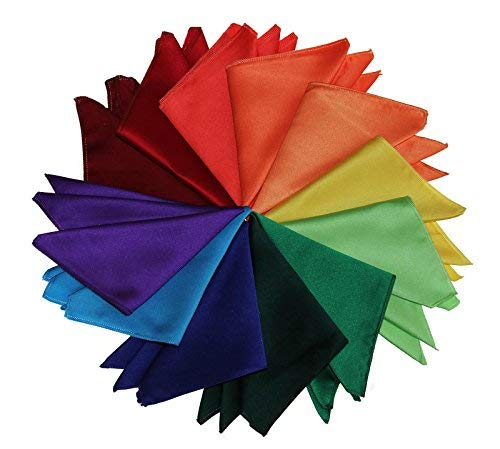 Pocket Square Hanky in Solid Colors Sized for Boys and Men By Tuxedo Park