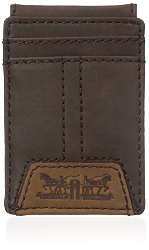 Levi's  Men's  Slim Front Pocket Wallet,Matt Brown