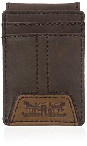 Levi's  Men's  Slim Front Pocket Wallet,Matt Brown (Small Signature Wallet)