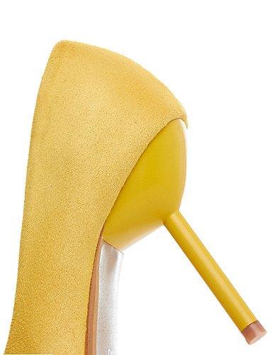 GGX/ Damen-High Heels-Kleid / Lässig / Party & Festivität-PU-Stöckelabsatz-Absätze / Spitzschuh-Gelb / Beige yellow-us5 / eu35 / uk3 / cn34
