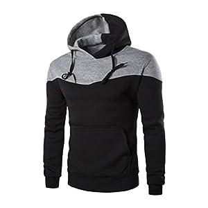 Pocket Hoodie Coats,Hemlock Men's Sweater Jackets Warm Hooded Sweatshirt Outwear